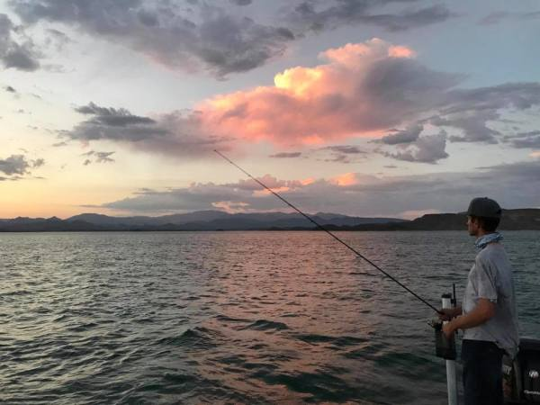 Sunset. Fishing with Dylan Maxon